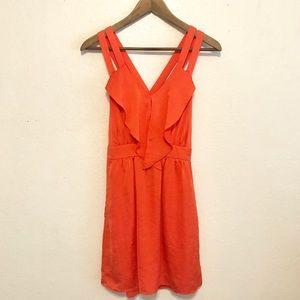BCBG // Orange strappy criss cross dress